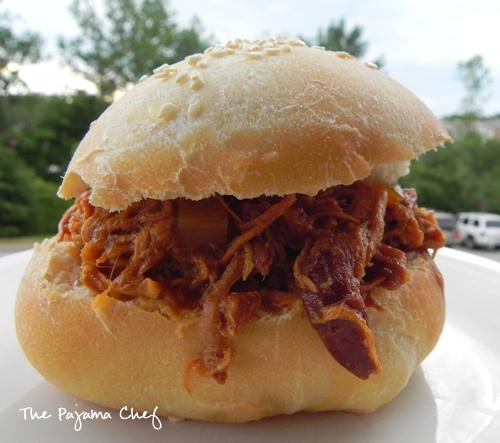 Hawaiian BBQ Pulled Chicken Sandwiches | The Pajama Chef