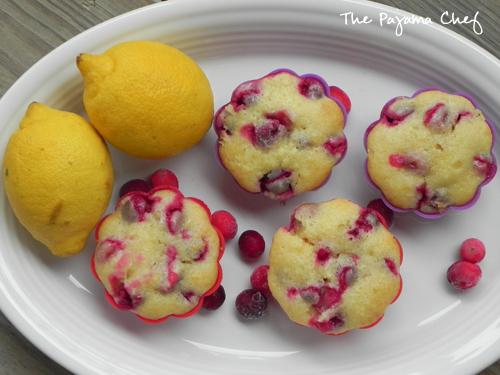 Lemon Cranberry Muffins | The Pajama Chef