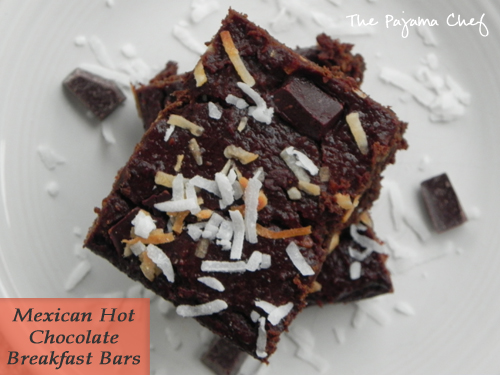 {Healthy} Mexican Hot Chocolate Breakfast Bars | The Pajama Chef
