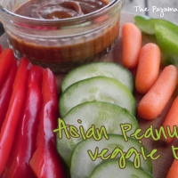 Asian Peanut Veggie Dip