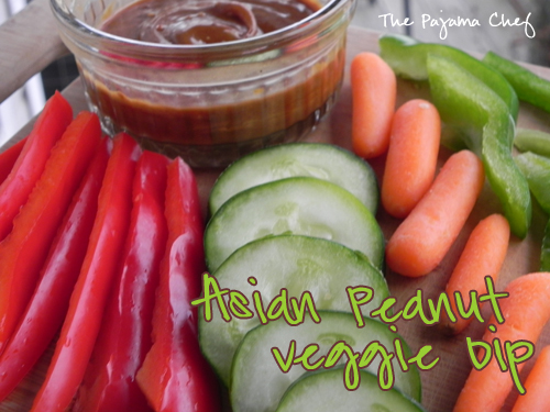 Asian Peanut Veggie Dip | The Pajama Chef