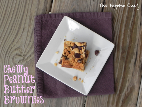 Chewy Peanut Butter Brownies | The Pajama Chef