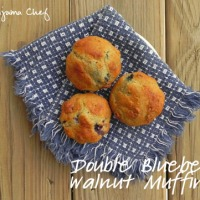 Double Blueberry Walnut Muffins