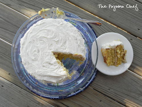 Lemon Cake with Lemon Curd Filling and Vanilla Buttercream Frosting | The Pajama Chef