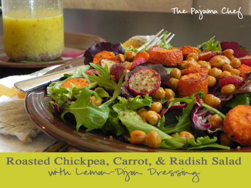 Roasted Chickpea, Carrot, & Radish Salad with Lemon-Dijon Dressing ...