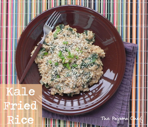Kale Fried Rice | The Pajama Chef