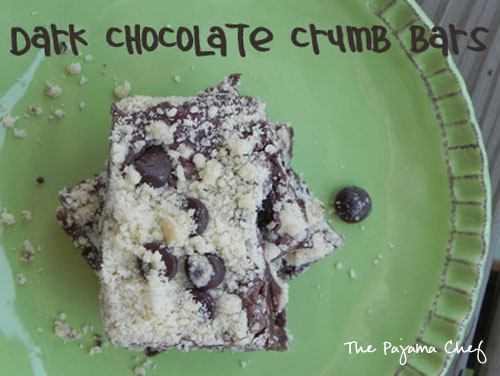 Dark Chocolate Crumb Bars | The Pajama Chef