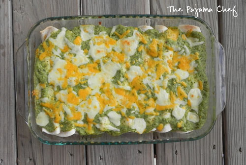 {Green} Bean & Cheese Enchiladas | The Pajama Chef