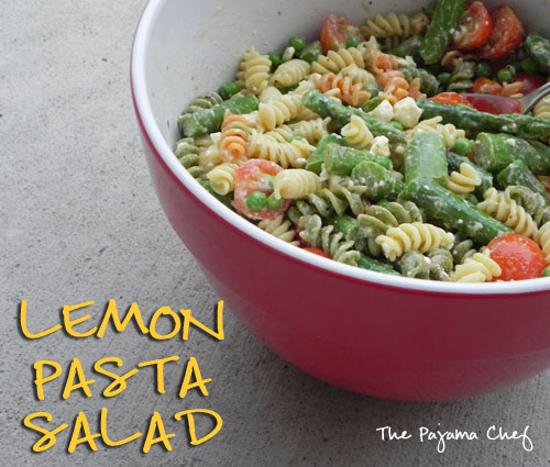 Neely's Lemon Pasta Salad | The Pajama Chef