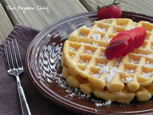 Club Soda Waffles | The Pajama Chef