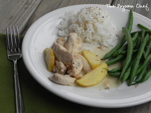 Apple Cream Chicken | The Pajama Chef