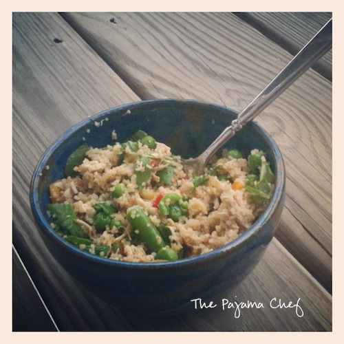 Italian Chicken & Veggie Couscous Bowl | The Pajama Chef