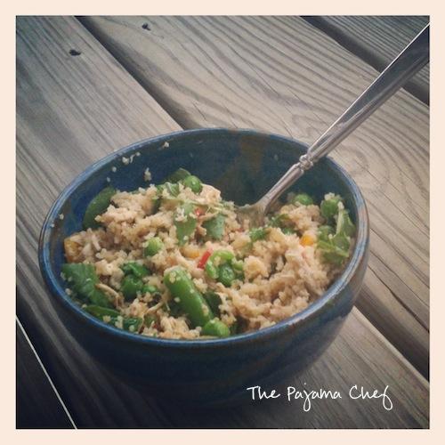 Italian Chicken & Veggie Couscous Bowl | The Pajama Chef