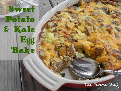 Sweet Potato and Kale Egg Bake | The Pajama Chef