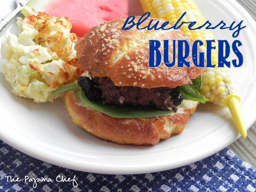 Blueberry Burgers | The Pajama Chef