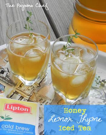Honey Lemon Thyme Iced Tea on thepajamachef.com