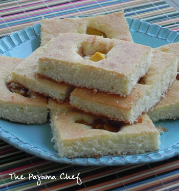 Mango Quick Cake Squares | The Pajama Chef