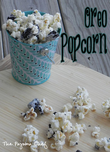 Oreo Popcorn | The Pajama Chef
