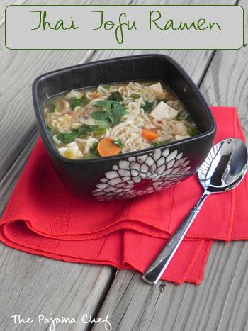 Thai Tofu Ramen   The Pajama Chef