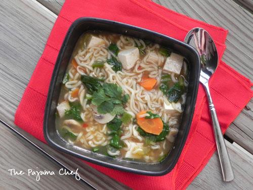 Thai Tofu Ramen | The Pajama Chef