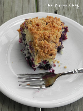Blueberry Buckle | thepajamachef.com