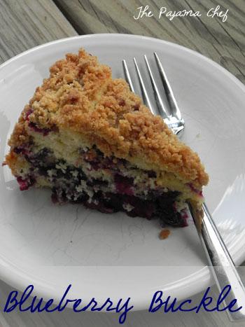 Blueberry Buckle | thepajamachef.com