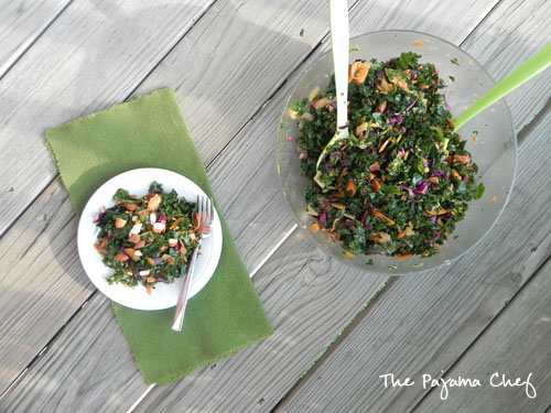 Chopped Kale Salad | thepajamachef.com