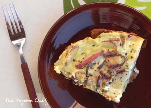 Eggplant Potato Frittata for Two (or a Crowd) | thepajamachef.com