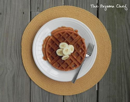 Ginger Banana Waffles | thepajamachef.com