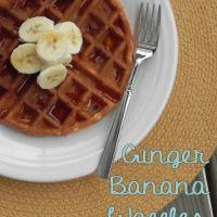 Ginger Banana Waffles