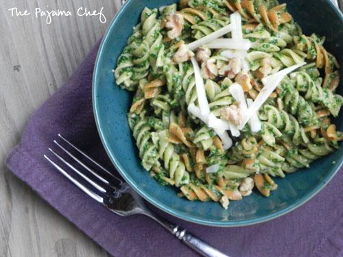 Kale Pesto Pasta | thepajamachef.com