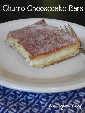 Churro Cheesecake Bars | thepajamachef.com
