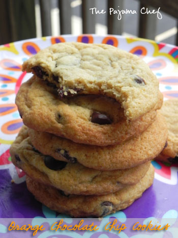 Orange Chocolate Chip Cookies | thepajamachef.com