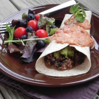 Quinoa Black Bean Burritos with Southwest Sauce