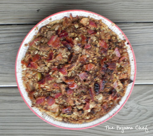 Maple Apple Pie-Crisp with Cheddar Crust & Bacon Crumb Topping | thepajamachef.com