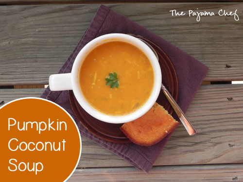 Pumpkin Coconut Soup | thepajamachef.com