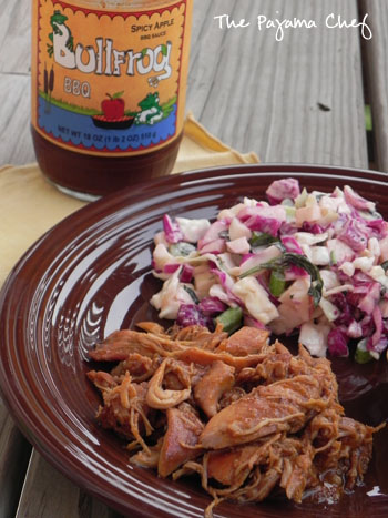 Sweet 'n Spicy Apple BBQ Chicken & Slaw | thepajamachef.com