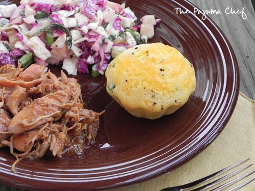 Sweet 'n Spicy Apple BBQ Chicken & Slaw   thepajamachef.com
