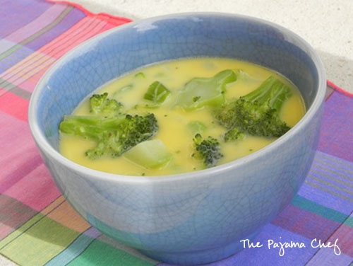 Cream of Broccoli Soup with Cheese | thepajamachef.com