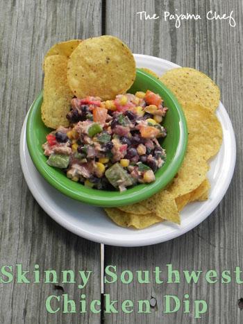 skinny southwest chicken dip | thepajamachef.com