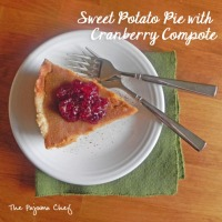 Mystery Dish: Sweet Potato Pie with Cranberry Compote