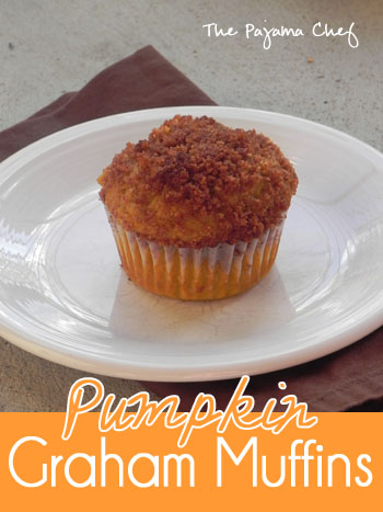 Pumpkin Graham Muffins | thepajamachef.com