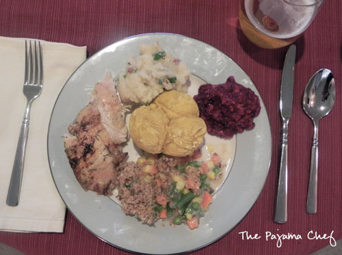 Thanksgiving Meal | thepajamachef.com