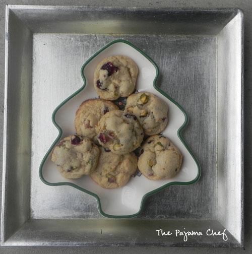 Cranberry-Pistachio Citrus Butter Cookies | thepajamachef.com