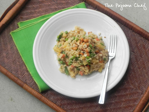 Pineapple Fried Rice | thepajamachef.com- a 20 minute quick and healthy #dinner #STARFineFoods #vegetarian