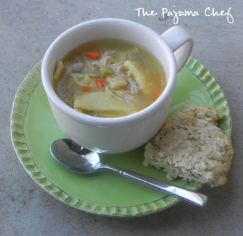Chicken Noodle Soup with Homemade Noodles | thepajamachef.com #bestever