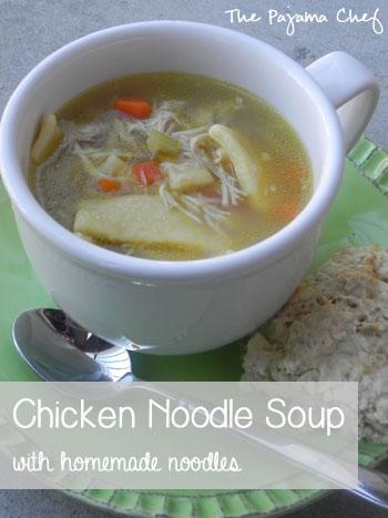 Chicken Noodle Soup with Homemade Noodles | thepajamachef.com #bestever