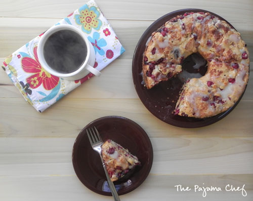 Cranberry Coffee Cake | thepajamachef.com