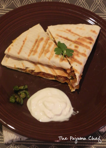 Sweet Potato Pork Quesadillas | thepajamachef.com