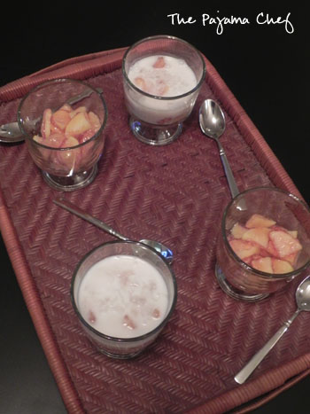 Apple Rubies in Coconut Milk   thepajamachef.com
